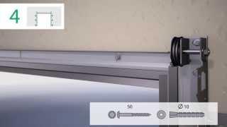 Монтаж гаражных ворот секционных Алютех Standart (видео-инструкция)