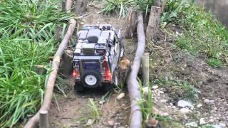 RC Xmas scale run in Carfrika (RC4WD Trailfinder2, Gelände2, Axial SCX10, RCModelex Mex Hilux)