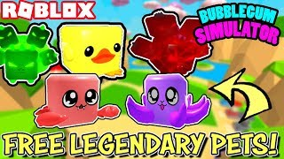 🔴 ROBLOX LIVE 🔴 FREE LEGENDARY PETS IN BUBBLEGUM SIMULATOR | MAKE IT IN TO SERVER, GET A PET
