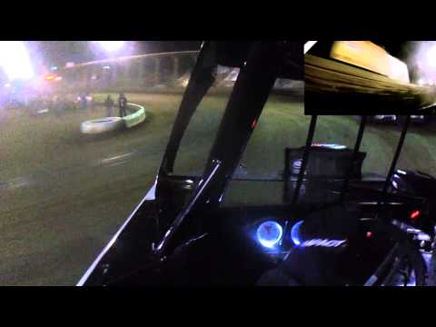 Mike Harrison In Car | Belle-Clair Speedway | Modified Feature 3.28.14