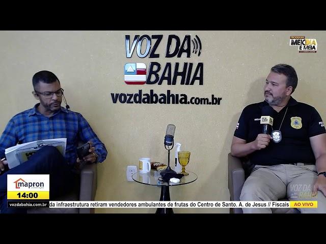Programa Meio dia e meia LIVE com Dr. Edilson Magalhães falando sobre a exoneração da 4ª Coorpin SAJ