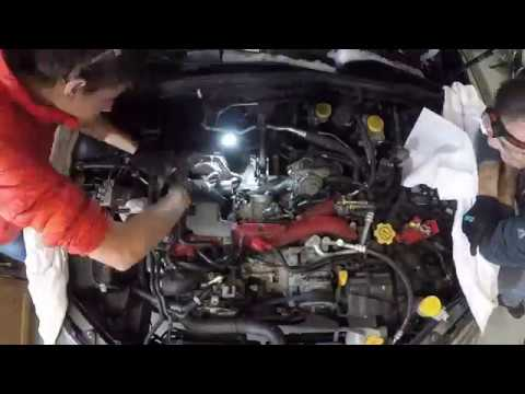 2008 Subaru STi Intake Manifold Removal and Fuel Line Replacement