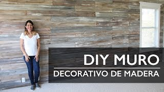 DIY Muro Decorativo de Madera pintada con Chalk Paint®