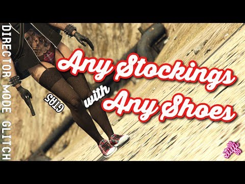 GTA5 | Female Director Mode Components: Any Stockings with Any Shoes