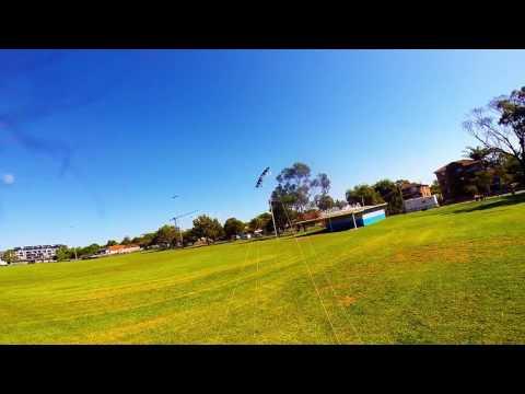Revolution NYM 3 Vent kite flying at Tasker Park with Frankie