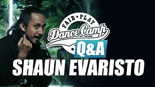 Q&A | Shaun Evaristo: 'Sometimes I need to stay still' | Fair Play Dance Camp 2017