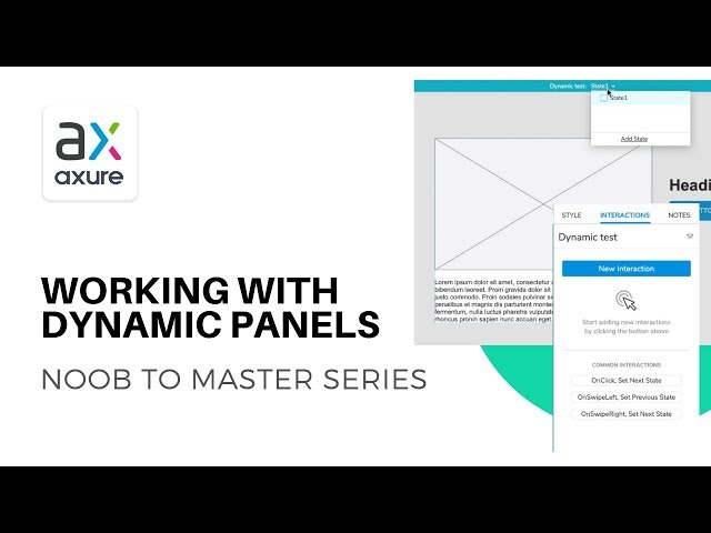 The Power of Dynamic Panels | Axure RP: Noob to Master Ep6