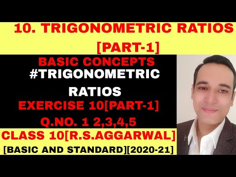 R.S.AGGARWAL SOLUTION CLASS 10 TRIGONOMRTIC RATIOS [PART-1]