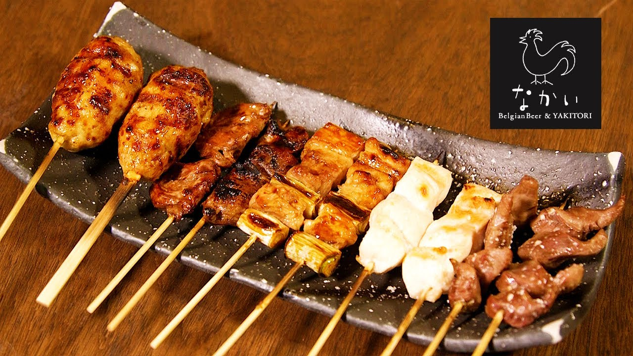 Yakitori with Tamba chicken and many kinds of beer
