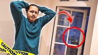 in meiner Villa wurde eingebrochen! Sie wollten den Tresor