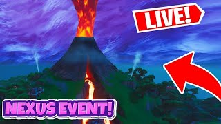 LIVE COUNTDOWN TIMER *VOLCANO ERUPTING NOW* / NEXUS LOOT LAKE EVENT Fortnite Battle Royale SEASON 9
