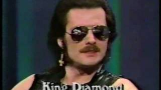King Diamond {interview joe franklin show 1987}