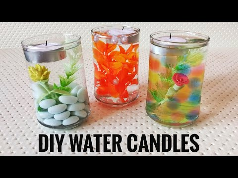 DIY Water Candles   Vase Centerpieces   Floating Candles  Home Decor