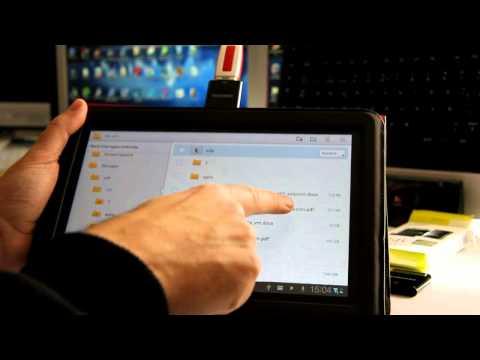Utilizando un pendrive - USB. Tablet Samsung Galaxy Tab 10.1