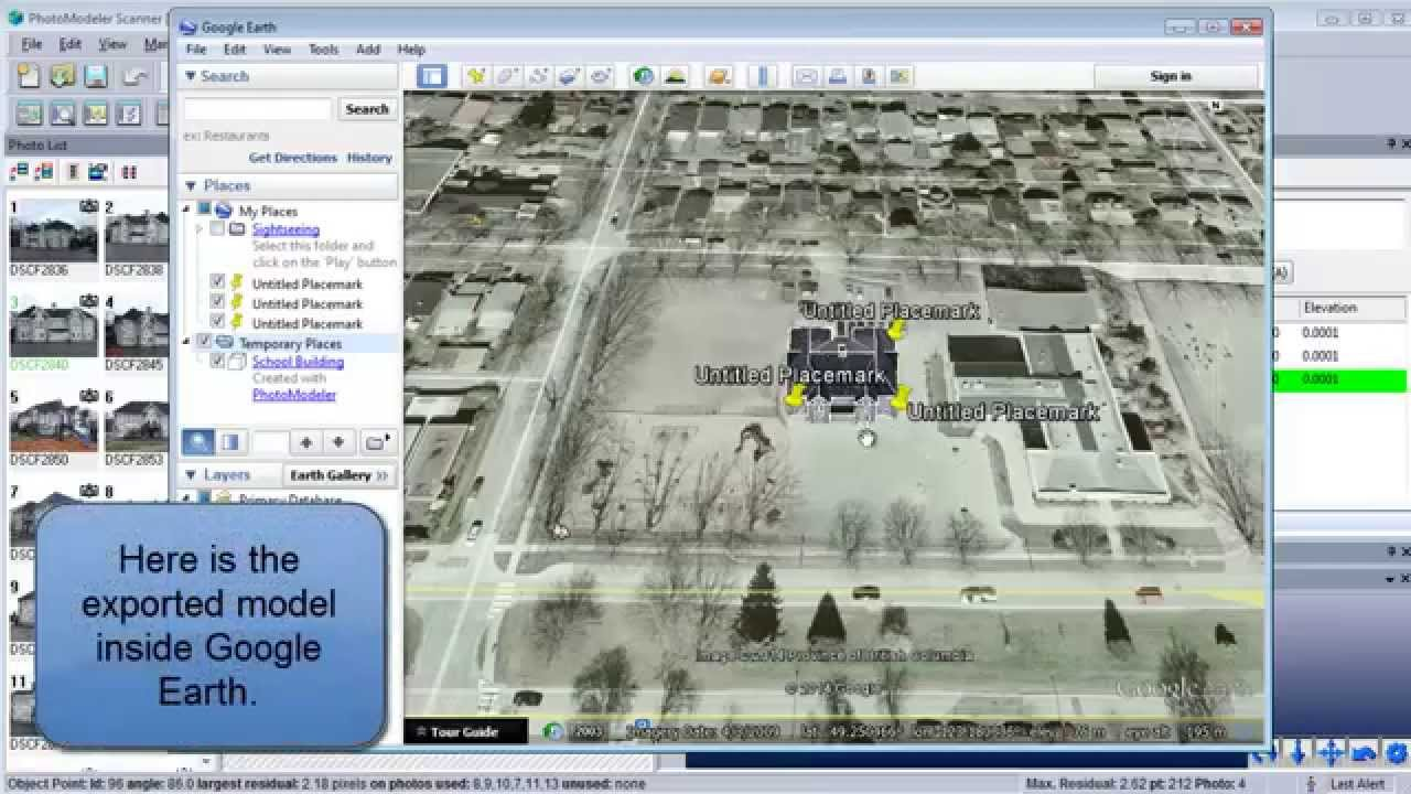 Tip 72: Exporting a 3D model for use in Google Earth
