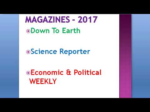 Magazine 2017 Down To Earth, Science Reporter, Economic & Political Weekly Analysis For UPSC/IAS/PSC