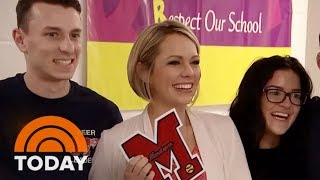 Dylan Dreyer Returns To Her Old High School (And Plays Softball!) | TODAY