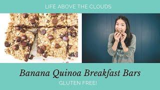 GF Banana Quinoa Breakfast Bars || Life Above The Clouds