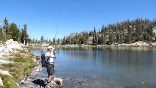 Fly Fishing Sun Valley Idaho Alpine Mountain Lake Cutthroat Trout 9,000 Feet in Elevation