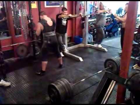 Chris Jenkins training at Ministry (320kg deadlft)
