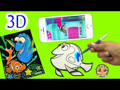 Disney Pixar Finding Dory Comes Alive in 3D on Iphone, Coloring Book Fun - Velvet Art Color