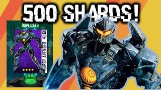 Obtained 500 Gipsy Avenger Shards!!! | Pacific Rim Breach Wars