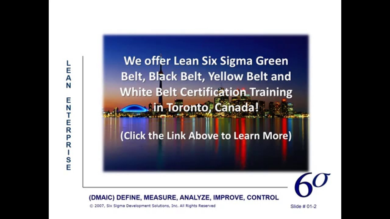 Lean Six Sigma Certifications In Toronto Canada Youtube