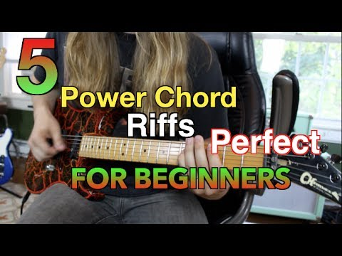 5 Power Chord Riffs Perfect For Beginners  ( With Tabs)