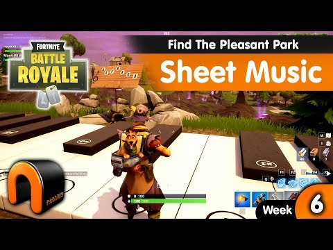 Find The Sheet Music In Pleasant Park FORTNITE