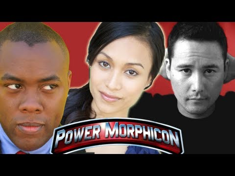 BLACK & WHITE POWER RANGERS - Johnny Yong Bosch / Jessica Rey Power Morphicon 2012 Interview