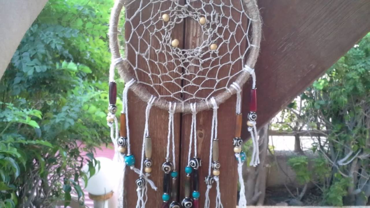 Dream Catchers With Beads Dream Catcher Tutorial 40 with beads YouTube 38