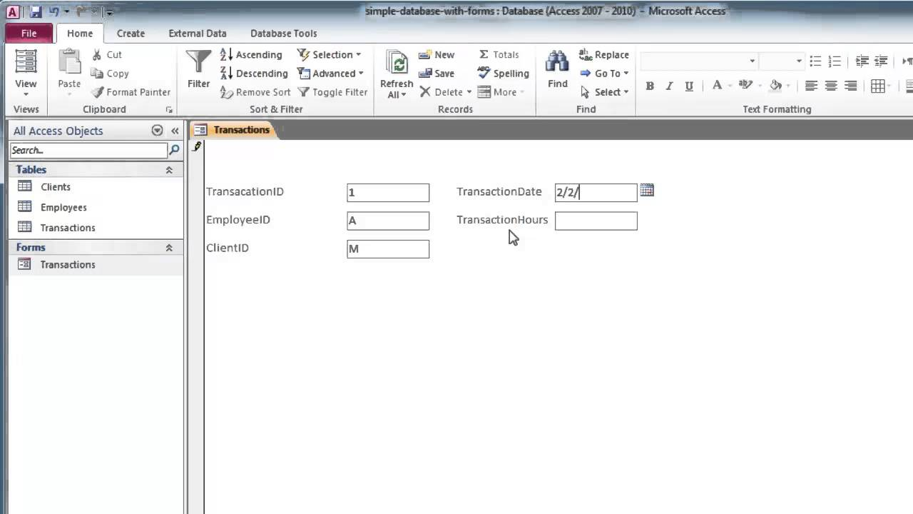 Create a custom form with design view in access custom forms part 2