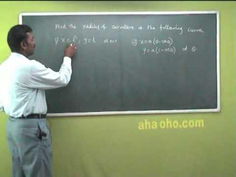 Unit-3 Example Problem to Find Radius of Curvature on the Curve -  Mathematics