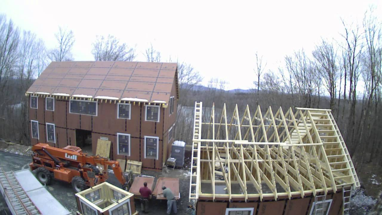Yankee Barn Homes Time Lapse House Construction Youtube