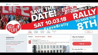 Abortion Is Not Modern Time To Push Back Rally For  Life 10/03/2018 Dublin