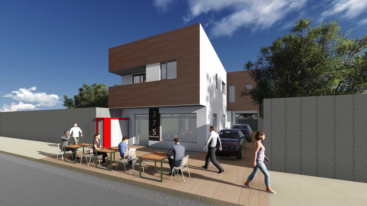 3d arquitectura dk comercio vivienda youtube for Vivienda arquitectura