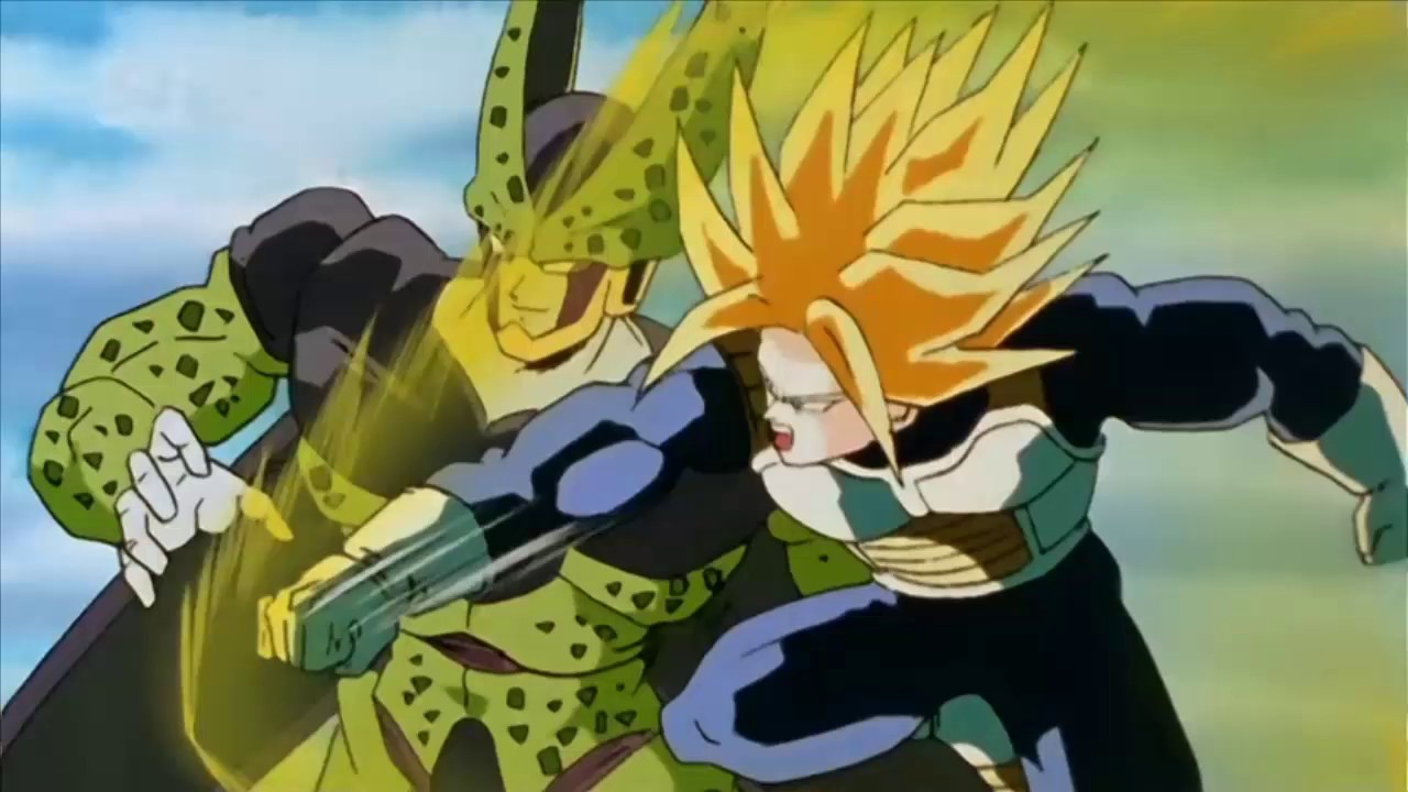Vegeta And Trunks Fighting