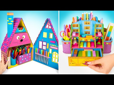 2 Colorful DIY Houses For Your Stationary