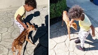 Jarvis Landry's daughter meeting a baby deer will make your day!