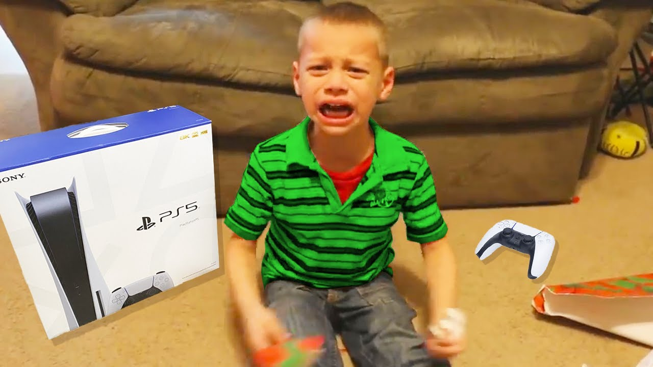 kid CRIES after getting FAKE PS5 for birthday..