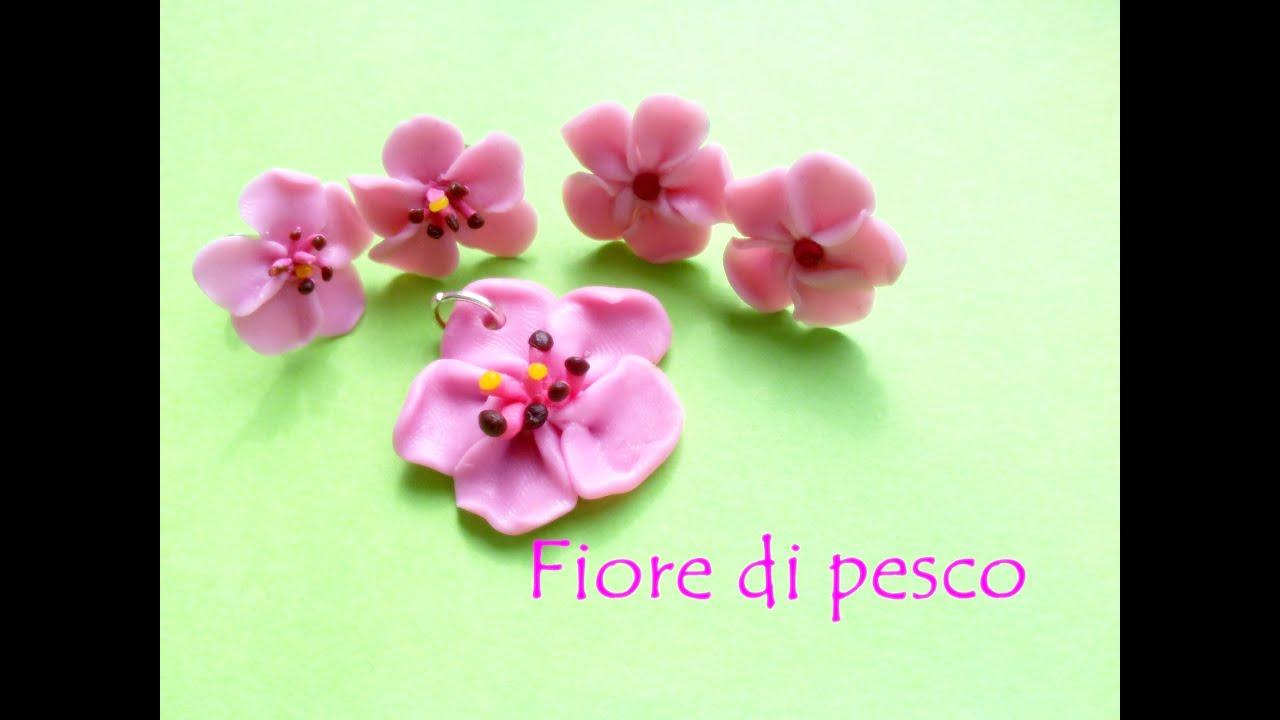 Fiori Pesco.Fiore Di Pesco Peach Flower Polymer Clay Tutorial Various