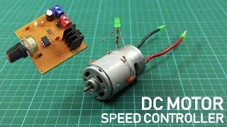 How To Make DC Motor Speed Controller Circuit. DIY PWM Motor Controller