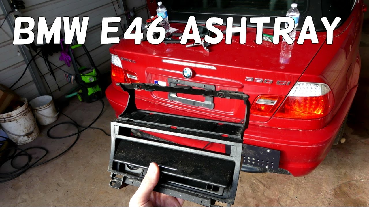 BMW E46 ASHTRAY ASH TRAY CENTER CONSOLE REMOVAL REPLACEMENT