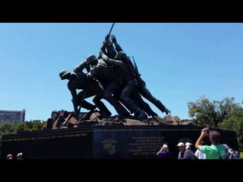 Iwo Jima Monument (Marine Corps) - Arlington Cemetery - June 9, 2016 - Travels With Phil
