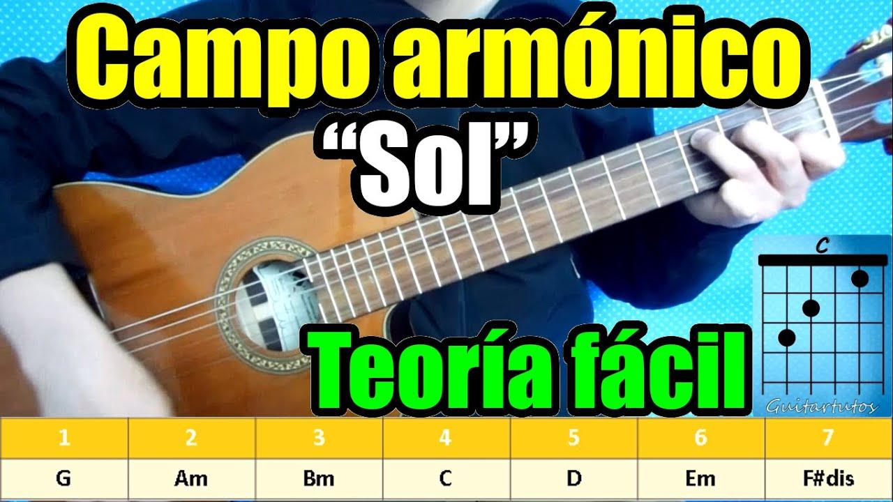 Clases De Guitarra Todos Los Acordes En La Clave De Sol Campo Armonico