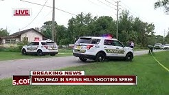 Hernando County deputies responding to two shootings with multiple victims in Spring Hill