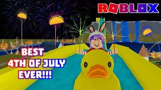 ROBLOX CLUB NYONIC | TACO FIREWORKS & DUCK SLIDE | BEST DAY EVER!!!