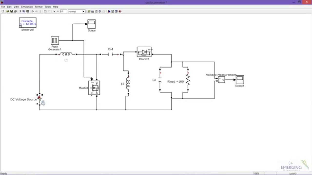 Circuito Boost : Sepic converter part boost mode matlab simulink simulation