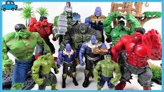 ХАЛК SMASH~! ЧЕРВОНИЙ ХАЛК ЙТИ! Колекція іграшок Халк проти Таноса з Рукавичкою іграшки для дітей - Чарльз іграшка