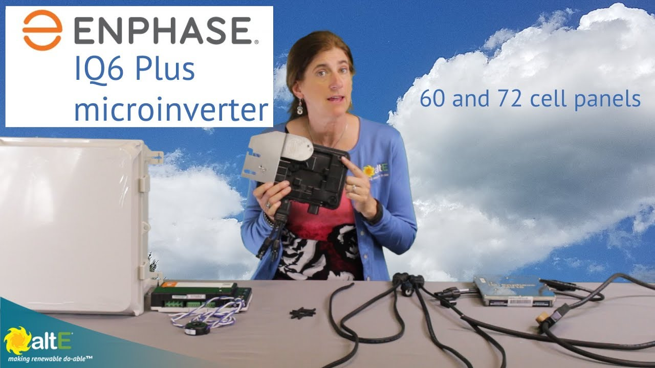 Enphase IQ6 Plus solar microinverter overview - YouTube on micro inverter cable, inverter circuit diagram, micro bypass wiring diagram, micro monitor wiring diagram, micro relay wiring diagram, micro plc wiring diagram, grid to inverter diagram,